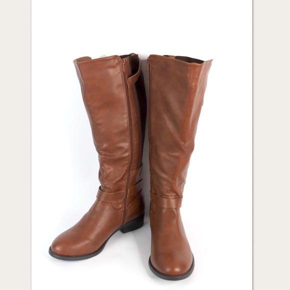 Torrid Brown Knee High Wide Calf Boots